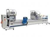 CNC double head precision cutting saw LJZ2G-CNC-500x4200   alum windows doors making machines